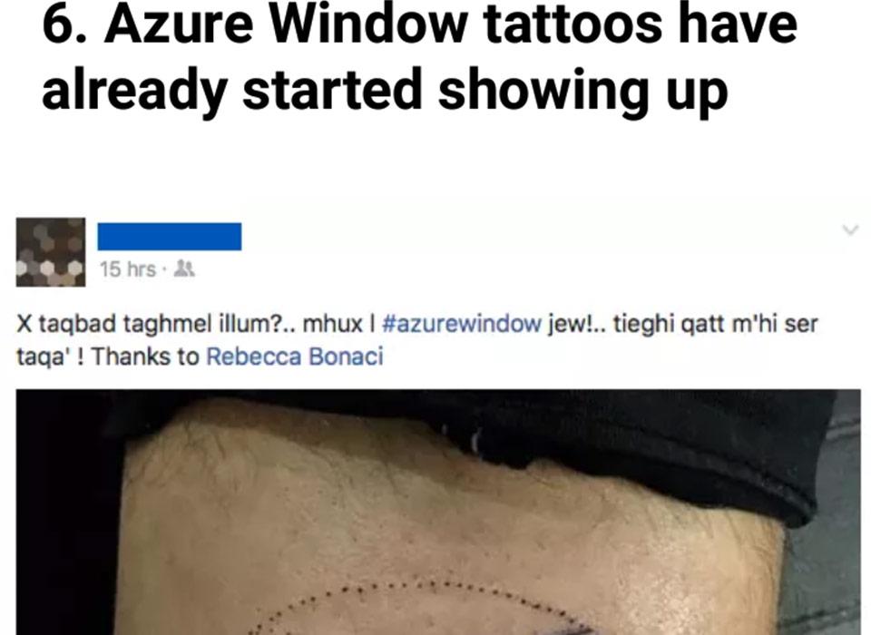Oddity Tattoo Studio News Azure Window